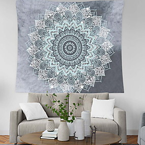 cheap Wall Tapestries-Cootime Mandala Tapestry  Hippie Bohemian Flower Psychedelic Indian Dorm Decor for Living Room Bedroom