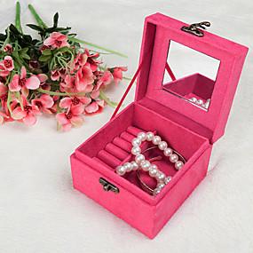 cheap Accessories-Jewelry Box - Leather Red, Purple 12 cm 12 cm 9 cm / Women's