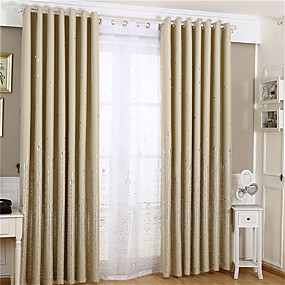 cheap Curtains & Drapes-Gyrohome 1PC GYC2144 Silver Castle Shading High Blackout Curtain Drape Window Home Balcony Dec Children Door *Customizable* Living Room Bedroom Dining Room