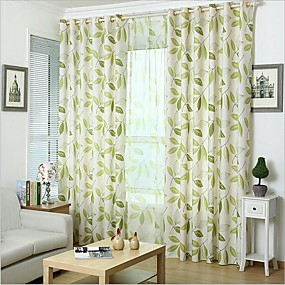 cheap Curtains & Drapes-Two Panel Korean Rural Style Printing Curtains Living Room Bedroom Study Curtains