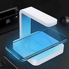 billige Desinfeksjon og sterilisator-Mobiltelefonsterilisator desinfeksjon / Med trådløs lader / UV desinfeksjon ABS + PC Anti-Lukt