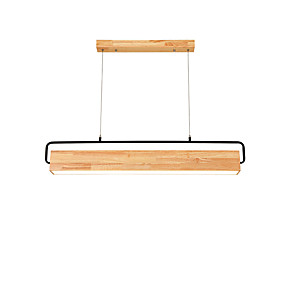 cheap Dimmable Ceiling Lights-10 cm Dimmable Pendant Light Wood / Bamboo Wood / Bamboo Island Painted Finishes Nature Inspired / Country 110-120V / 220-240V