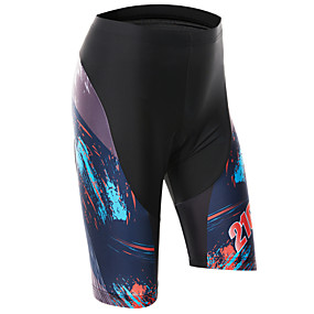 cheap Cycling & Motorcycling-21Grams Women's Cycling Padded Shorts Polyester Bike Pants Bottoms Breathable Quick Dry Sports Black / Blue Mountain Bike MTB Road Bike Cycling Clothing Apparel Bike Wear / Stretchy