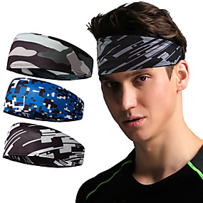 cheap Exercise, Fitness & Yoga-Elastane Sweat Headband Sweatband Sports Headband Men's Women's Headwear N / A Breathable Quick Dry Moisture Wicking for Home Workout Running Fitness Autumn / Fall Spring Summer Black / Silver