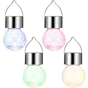 billige Soldrevne LED-lamper-sol hengende lys flekk sprekk ball hengende lys for utendørs belysning gårdsplass hage fargerik dekorasjon lys sol hage lys 1 stk