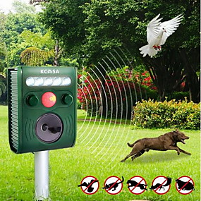 cheap Home Security System-Garden Ultrasonic PIR Sensor Solar Animal Dispeller Strong Flashlight Dog Repeller