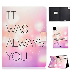 cheap iPad case-Case For Apple iPad Air/iPad Mini 3/2/1/4/5 Card Holder / Flip / Pattern Full Body Cases Word / Phrase PU Leather For iPad Air 10.5 2019/iPad 10.2/Pro 11 2020/iPad 2017/iPad 2018