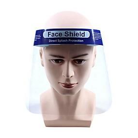 billige Personlig beskyttelse-6stk beskyttelsesjusterbar anti-dråpestøvsikker full ansiktsdeksel maske visir skjold dråpe virus vindtett ansiktsskjold vaskbar