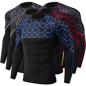 cheap Running & Jogging-JACK CORDEE Men's Long Sleeve Compression Shirt Running Shirt Running Base Layer Top Athletic Winter Moisture Wicking Quick Dry Breathable Running Active Training Jogging Sportswear Black / Red Black