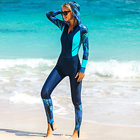 cheap Surfing, Swimming & Diving-SBART Women's Rash Guard Dive Skin Suit Nylon Diving Suit UV Sun Protection Quick Dry High Elasticity Full Body Front Zip - Swimming Diving Surfing Snorkeling Patchwork