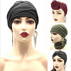 cheap Accessories-Fabric Headbands Durag Sports Adjustable Bowknot For Holiday Street Simple Headband Olive Red Black / Women's