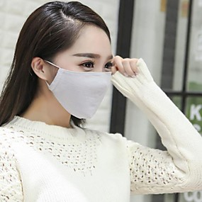 cheap Travel-Face Mask Portable Breathable Dust Proof Protection Antivirus High Quality Chiffon Cotton White / Pink Pink Dark Gray Green Blue