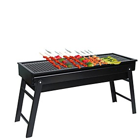 cheap Hand Tools-Factory Direct Barbecue Grill Outdoor Folding Barbecue Charcoal Grill BBQ Portable Household Grill Barbecue Box