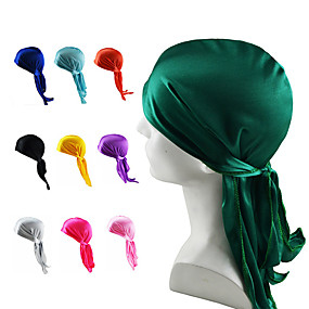 cheap Men's Accessories-Fabric Durag Breathable highly stretchy For Street Basketball Sporty Chic & Modern claret Purple Blushing Pink 1 Piece / Men's