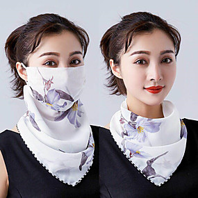 cheap Industrial Protection-Sun shawl windproof protective mask summer dustproof outdoor safety sunscreen mask chiffon silk scarf fashion tulle sun protection neck