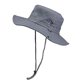cheap Camping, Hiking & Backpacking-Men's Sun Hat Fishing Hat Fisherman Hat Hiking Hat 1 PCS Winter Outdoor Portable Sunscreen UV Resistant Ultraviolet Resistant Hat Solid Color Polyester Army Green Dark Gray Khaki for Camping / Hiking