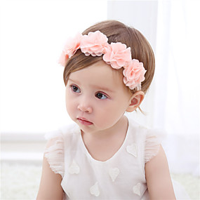 cheap Accessories-Fabric Headbands Durag Kids Bowknot Elasticity For New Baby Holiday Stylish Active Pale Pink 1 Piece