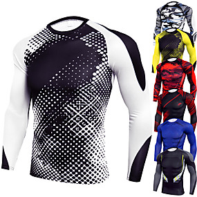 cheap Running & Jogging-JACK CORDEE Men's Long Sleeve Compression Shirt Running Shirt Running Base Layer Top Athletic Winter Spandex Moisture Wicking Breathable Soft Fitness Gym Workout Running Active Training Jogging
