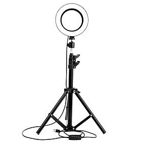 levne Domácí kancelář-stmívání prsten světlo tiktok světlo youtube video 16cm vedl selfie krása výplň světlo kotva mobilní telefon živá fotografie samospoušť lampa s 2,1m stojanem