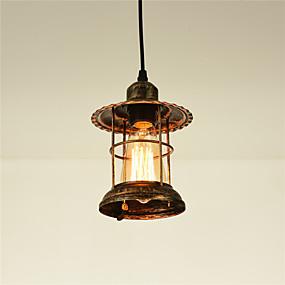 cheap Lantern Design-OYLYW 14.5 cm Lantern Desgin Pendant Light Metal Painted Finishes Vintage / Country 110-120V / 220-240V