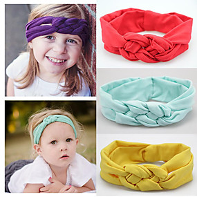 cheap Accessories-Fabric Headbands Durag Kids Bowknot Elasticity For New Baby Holiday Stylish Active Deep Purple Lake blue Spring Grass Green 1 Piece