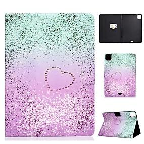 cheap iPad case-Case For Apple iPad Air/iPad Mini 3/2/1/4/5 Card Holder / Flip / Pattern Full Body Cases Heart PU Leather For iPad Air 10.5 2019/iPad 10.2/Pro 11 2020/iPad 2017/iPad 2018