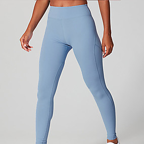 cheap Yoga & Fitness-Women's High Waist Yoga Pants Leggings Butt Lift Quick Dry Pink Green Blue Nylon Gym Workout Running Fitness Sports Activewear High Elasticity Skinny