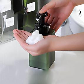 cheap Bathroom Gadgets-250ml white/clear quadrate foam pump bottle Hand wash bath milk Mousse bottle DIY empty bottles Sparkling bottle