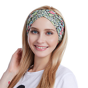 cheap Accessories-Fabric Headbands Durag Sports Adjustable Bowknot For Holiday Street Sporty Simple Fuchsia Pale Pink Cyan 1 Piece / Women's