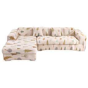 cheap Slipcovers-The Trees Print Dustproof All-powerful Slipcovers Stretch Sofa Cover Super Soft Fabric Couch Cover with One Free Pillow Case