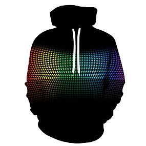 cheap Athleisure Wear-Men's Hoodie Cartoon 3D Character 3D Print Casual Hoodies Sweatshirts  Black