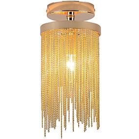 cheap Lantern Design-1 Light Dia 6inch Aluminum Flush Mount Lights Candle Style for Entry Bedroom Living Room Mini Lamp