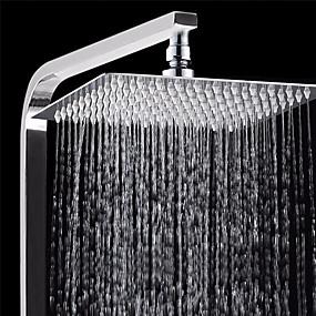 cheap Shower Heads-1 Pcs Bath Shower Rainfall Sprayer 304 Stainless Steel Square & Round Shower Head High Pressure Bathroom Top Spray Head for Bath