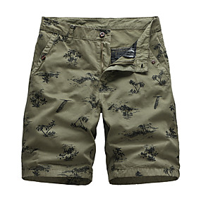 """cheap Camping, Hiking & Backpacking-Men's Hiking Shorts Summer Outdoor 10"""" Standard Fit Ultra Light (UL) Quick Dry Breathable Sweat wicking Cotton Knee Length Shorts Bottoms Army Green Dark Gray Khaki Dark Blue Coffee Camping / Hiking"""