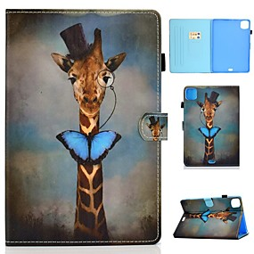 cheap iPad case-Case For Apple iPad Air/iPad Mini 3/2/1/4/5 Card Holder / Flip / Pattern Full Body Cases Animal PU Leather For iPad Air 10.5 2019/iPad 10.2/Pro 11 2020/iPad 2017/iPad 2018