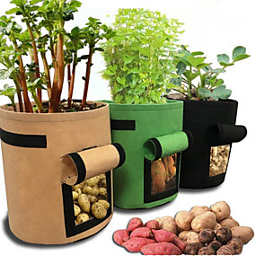 cheap Tools-Potato Grow Bags, Plant Grow Bags 7 Gallon Heavy Duty Thickened Growing Bags Planting Pots Container Garden Vegetable Planter with Ziplock