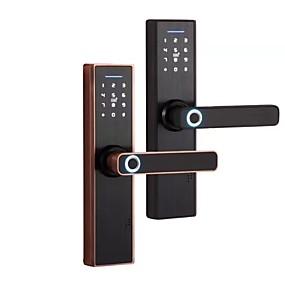 cheap Door Locks-Zinc Alloy lock / Intelligent Lock / Card Lock Smart Home Security System RFID / Password unlocking / Mechanical key unlocking Household / Home / Home / Office Others / Wooden Door / Composite Door