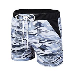 cheap Running & Jogging-Men's Running Shorts Sports & Outdoor Shorts Bottoms Drawstring Running Jogging Training Moisture Wicking Breathable Soft Sport Blue Gray / Micro-elastic / Athleisure / Athletic
