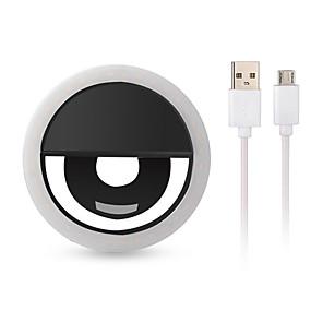 cheap Ring Lights-1X LED Mobile Phone USB Charging Selfie Light Clip-On Lamp Portable LED Selfie Ring Light Flash Light Photo Camera For Iphone Smartphone