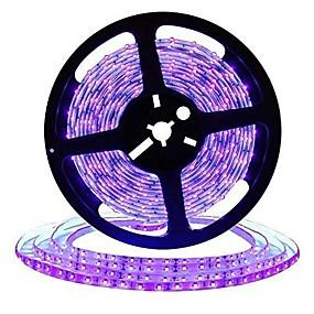 povoljno Svjetlosne trake i žice-zdm 16.4ft 5m led svjetlosne trake fleksibilne tiktok svjetla uv crna svjetlost 395-405nm 2835 8mm led fleksibilna traka dc12v za unutarnju fluorescentnu plesnu zabavu pozornice osvjetljenje tijela
