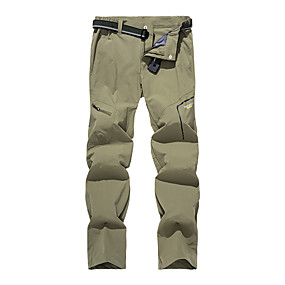 cheap Camping, Hiking & Backpacking-Women's Hiking Pants Trousers Solid Color Outdoor Quick Dry Breathable Sweat wicking Wear Resistance Spandex Pants / Trousers Bottoms Dark Grey Fuchsia Khaki Green Hunting Fishing Climbing S M L XL