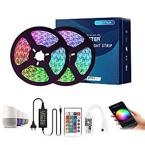cheap WiFi Control-10m Flexible LED Light Strips Flexible Tiktok Lights 300 LEDs SMD5050 Multi Color Decorative TV Background 12 V