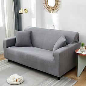cheap Slipcovers-Nordic Simple Plain Color Elastic Sofa Cover Single Double Three Person Sofa Cover