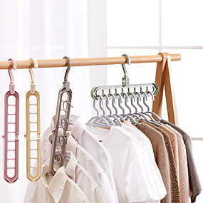 cheap Bathroom Gadgets-Multi-port Support Circle Clothes Hanger Clothes Drying Racks Multifunction Plastic Scarf Clothes Hanger Hangers Storage Rack Color random