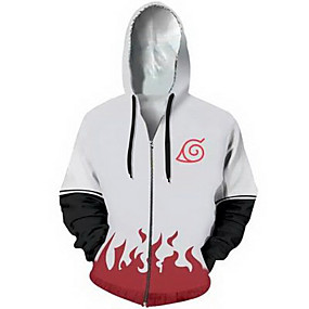 cheap Athleisure Wear-Inspired by Naruto Cosplay Coat Terylene Print For Men's / Women's