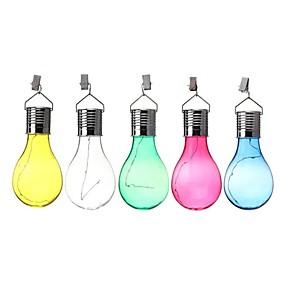 billiga Uteplats-solenergi camping hängande led lampa vattentät för utomhus trädgård gräsmatta trädgård ljus sol lampa 5 led