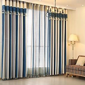 povoljno Zavjese i zastori-dva ploča modernog minimalističkog stila prošivanja dnevni boravak spavaća soba blagovaonica dječja soba šenil prugaste žakard zavjese