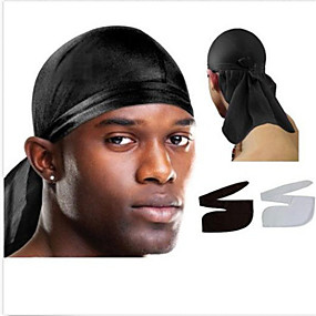 cheap Men's Accessories-Fabric Durag Breathable highly stretchy For Street Basketball Sporty Chic & Modern Purple Red Blue 1 Piece / Men's