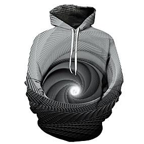 cheap Athleisure Wear-Men's Hoodie Cartoon 3D Character Hooded 3D Print Casual Hoodies Sweatshirts  Black