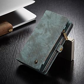 billige Telefoner og tilbehør-caseme forretningsskinnveske for samsung galaxy s20 / s20 plus / s20 ultra med lommebok kortspor magnetisk flip stativ multifunksjonell luksus 2-i-1 avtakbart etui